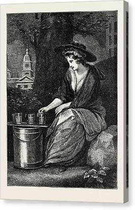 The Evictions At Milk Fair Canvas Print
