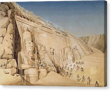 The Excavation Of The Great Temple Canvas Print