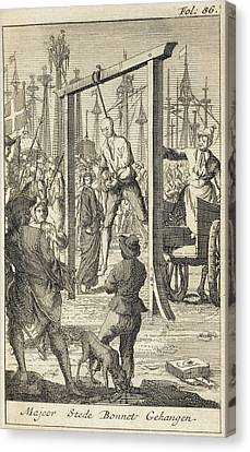 General Concept Canvas Print - The Execution In 1718 Of Stede Bonnet by British Library