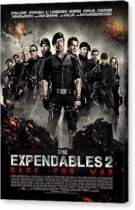 Sylvester Stallone Canvas Print - The Expendables 2  by Movie Poster Prints