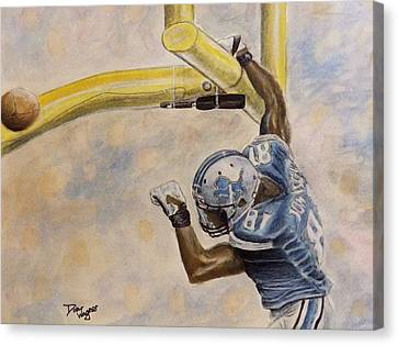 Canvas Print featuring the painting The Extra Point by Dan Wagner