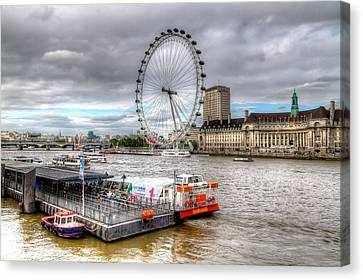 The Eye Across The Thames Canvas Print by Tim Stanley
