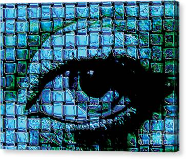 The Eye Canvas Print by Galactic  Mantra
