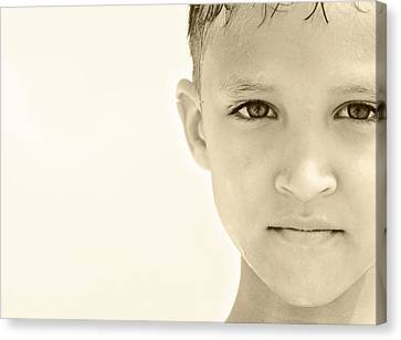 The Eye Of A Child Canvas Print by Charles Beeler