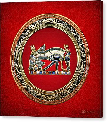 The Eye Of Horus Canvas Print by Serge Averbukh