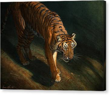 The Eye Of The Tiger Canvas Print by Aaron Blaise