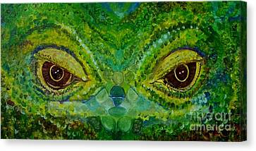 The Eyes Have It Canvas Print by Julie Brugh Riffey