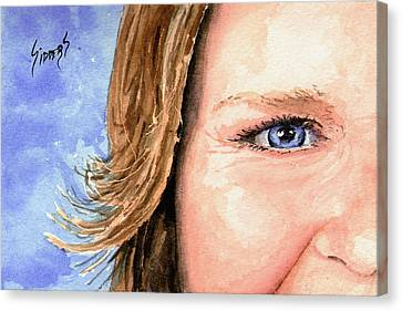 The Eyes Have It - Sherry Canvas Print by Sam Sidders