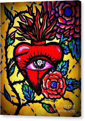 The Eyes Of A Heart By Laura Gomez Canvas Print by Laura  Gomez