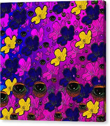 The Eyes Of Mother Nature Serve And Protect Canvas Print by Pepita Selles