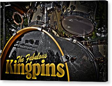 The Fabulous Kingpins Drums Canvas Print by David Patterson