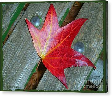 Canvas Print featuring the photograph The Face Of Autumn by Leanne Seymour