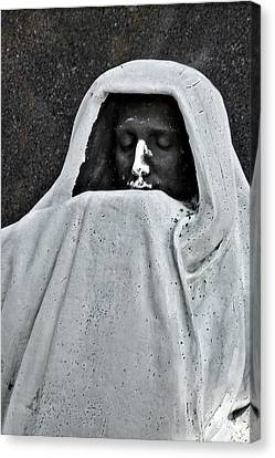 The Face Of Death - Graceland Cemetery Chicago Canvas Print by Christine Till