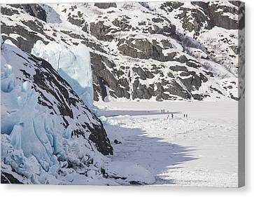 The Face Of Portage Glacier Canvas Print by Tim Grams