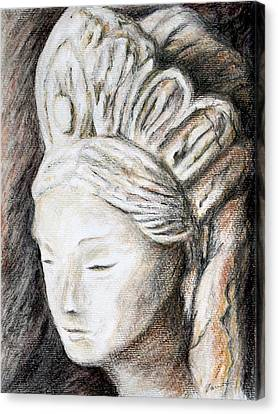 The Face Of Quan Yin Canvas Print
