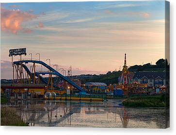 The Fairground ,tramore, County Canvas Print by Panoramic Images