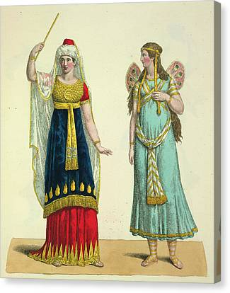 The Fairy Namuna And The Genie Canvas Print by British Library