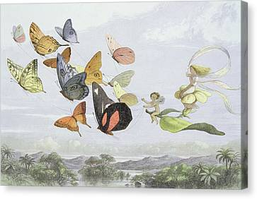 Fairies Canvas Print - The Fairy Queen's Carriage by Richard Doyle