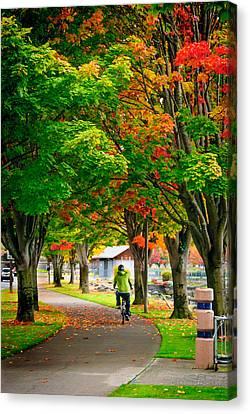 The Fall Bike Ride Canvas Print