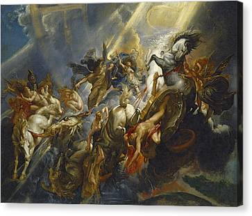The Fall Of Phaeton Canvas Print by  Peter Paul Rubens