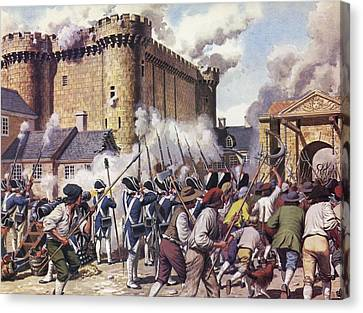 The Fall Of The Bastille Colour Litho Canvas Print by Mike White