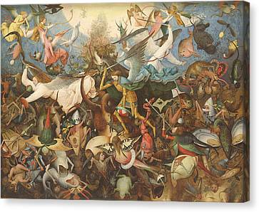 The Fall Of The Rebel Angels, 1562 Oil On Panel Canvas Print by Pieter the Elder Bruegel