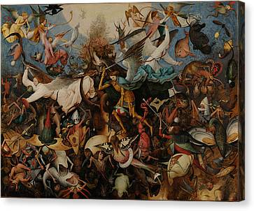The Fall Of The Rebel Angels Canvas Print by Pieter Bruegel the Elder