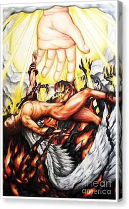 The Fallen Angel Canvas Print by Derrick Rathgeber