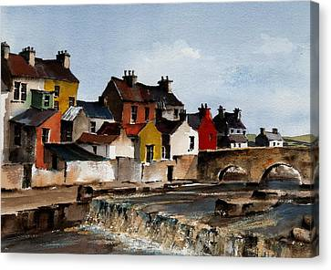 The Falls At Ennistymon  Clare Canvas Print