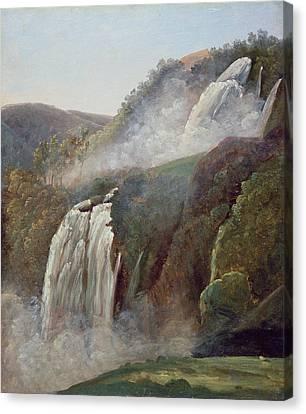 Mountains Canvas Print - The Falls At Terni by George Augustus Wallis