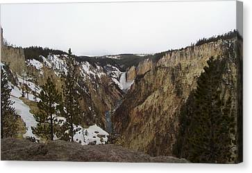 The Falls At Yellowstone Park Canvas Print