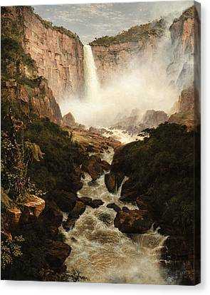 The Falls Of The Tequendama Near Bogota, New Granada Canvas Print by Frederic Edwin Church