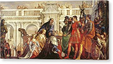 The Family Of Darius Before Alexander The Great 356-323 Bc, 1565-67 Canvas Print by Veronese
