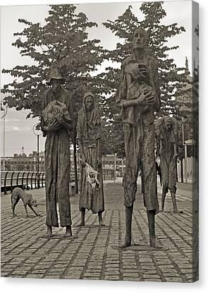 The Famine Dublin Ireland Canvas Print by Betsy Knapp