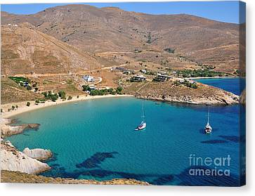 The Famous Psili Ammos Beach Canvas Print by George Atsametakis