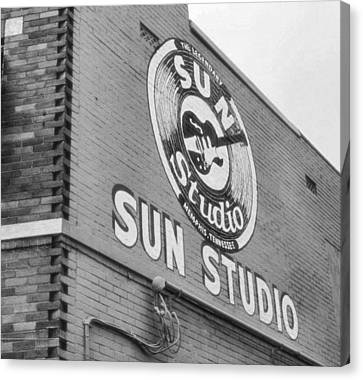 Memphis Recordings Canvas Print - The Famous Sun Studio In Memphis Tennessee by Dan Sproul