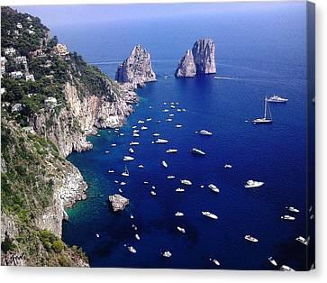 The Faraglioni Of Capri Canvas Print