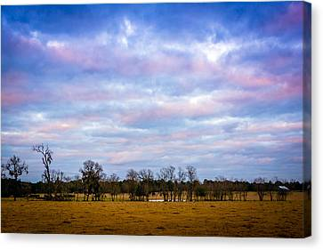 The Farm Before The Winter Storm  Canvas Print