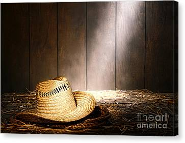 The Farmer Hat Canvas Print by Olivier Le Queinec