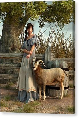 The Farmer's Daughter Canvas Print by Daniel Eskridge