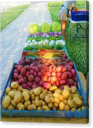 The Farmers' Market Canvas Print by Ric Darrell