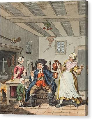 The Farmers Return, Illustration Canvas Print by William Hogarth