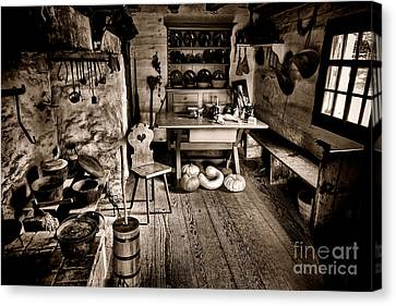 Pioneer Museum Canvas Print - The Farmstead by Olivier Le Queinec