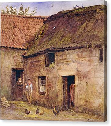 The Farmyard Canvas Print by Helen Allingham