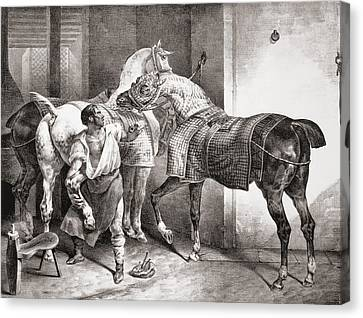 The Farrier, From Etudes De Cheveaux Canvas Print