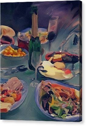 The Feast Canvas Print by Dennis Buckman