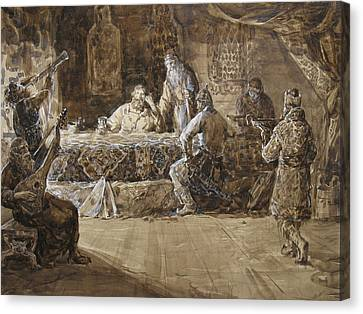 The Feast Of Prince Vladimir Canvas Print by Korobkin Anatoly