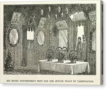 The Feast Of Tabernacles Canvas Print by British Library