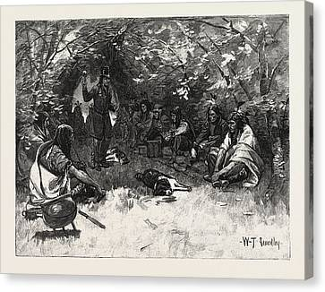 The Feast Of The White Dog, Canada Canvas Print by Canadian School