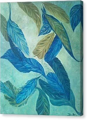 Canvas Print - The Feather-leaf Morph by Derya  Aktas